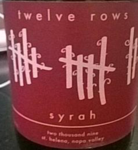 2013 Twelve Rows Syrah, Napa Valley, USA (750ml)