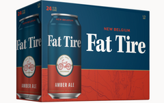 (12pk cans)-New Belgium Fat Tire Amber Ale Beer, Colorado, USA (12oz)