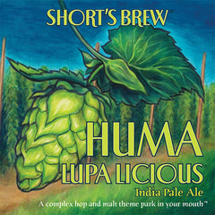 (24pk cans)-Short's Huma Lupa Licious India Pale Ale Beer, Michigan, USA (12oz)