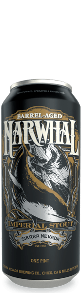 (4pk cans)-2020 Sierra Nevada Barrel-Aged Narwhal Imperial Stout Beer, USA (16oz)