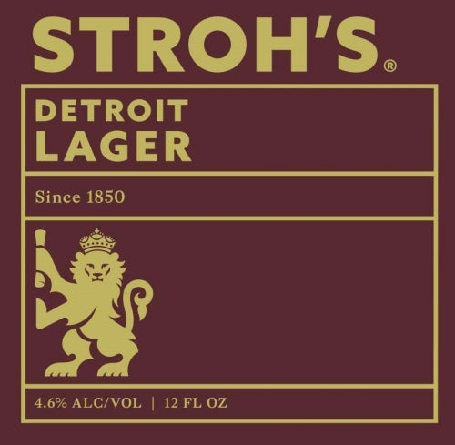 6pk-Stroh's Detroit Lager Beer, Michigan, USA (12oz)
