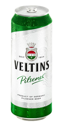 (4pk cans)-Veltins Pilsener Beer, Germany (500ml)