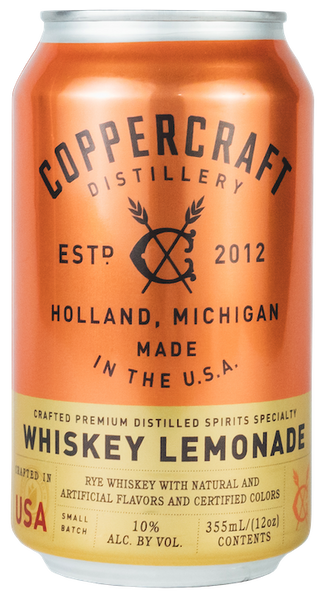 Coppercraft Distillery 'Whiskey & Lemonade,' Michigan, USA (6 x 4pks case, 12fl oz)