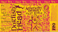 (24pk cans)-Dogfish Head American Beauty Hazy Ripple India Pale Ale Beer, Delaware, USA (12oz)