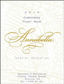2016 Michael Pozzan Special Selection Annabella Pinot Noir, Carneros, USA (750ml)