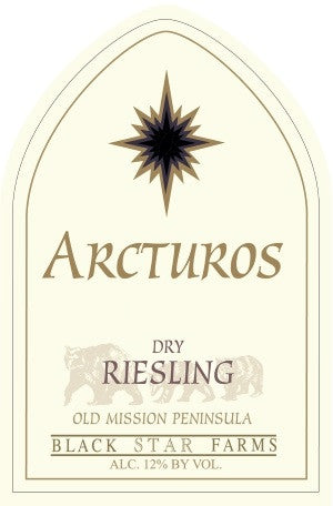 2012 Black Star Farms 'Arcturos' Dry Riesling, Old Mission Peninsula, USA (750ml)