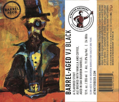 4pk-Atwater Barrel Aged Vanilla Java Black Stout Beer, Michigan, USA (12oz)