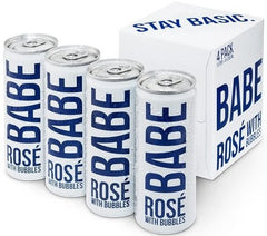 NV White Girl Babe Rose with Bubbles, California, USA  (6 x 4pk case, 250ml)