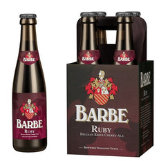 "4pk-Verhaeghe Vichte ""Barbe Ruby"" Belgian Kriek Cherry Ale Beer, Belgium (330ml)"