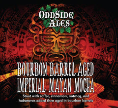 2019 Oddside Ales Bourbon Barrel Aged Imperial Mayan Mocha Stout Beer, Michigan, USA (12oz)