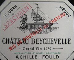 1970 Chateau Beychevelle, Saint-Julien, France (750ml)