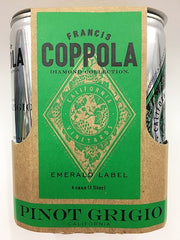 Francis Ford Coppola Diamond Collection Pinot Grigio Cans (case, 6 x 4pk 250ml cans)
