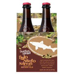 4pk-Dogfish Head Palo Santo Marron Wood-Aged Brown Ale Beer, Delaware, USA (12oz)