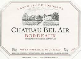 2015 Chateau Bel-Air, Bordeaux, France (750ml)