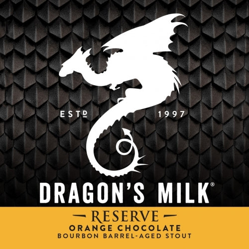 4pk-New Holland Brewing Dragon's Milk Reserve Orange Chocolate Bourbon Barrel Aged Stout Beer, Michigan, USA (12oz)