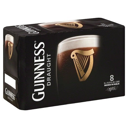 (8pk cans)-Guiness Draught Stout Beer, Ireland (500ml)