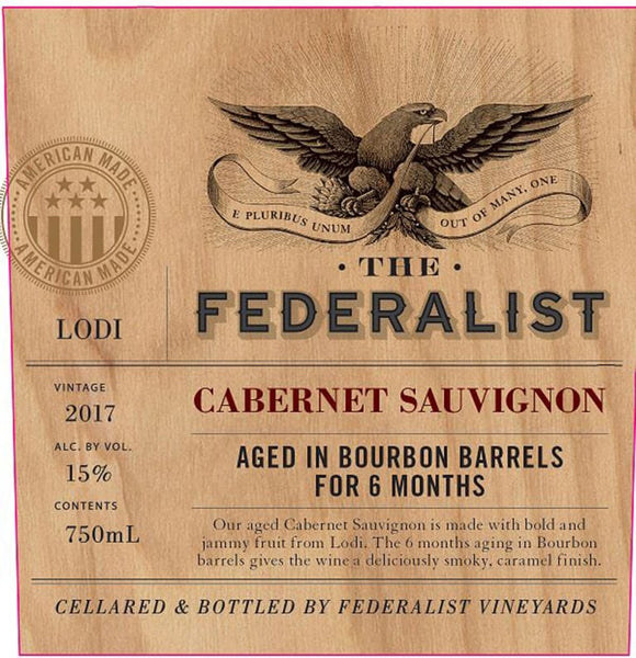 2017 The Federalist Bourbon Barrel Aged Cabernet Sauvignon, Mendocino County, USA (750ml)