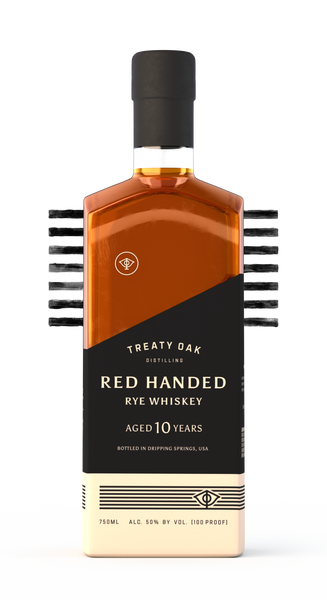 Treaty Oak Distilling Co. Red Handed 10 Year Old Rye Whiskey, Texas, USA (750ml)