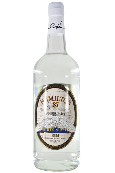Ministry of Rum Collection Hamilton White Stache Rum Caribbean (1L)