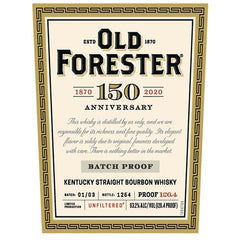 Old Forester 150th Anniversary Batch Proof 126.4 Straight Bourbon Whisky, Kentucky, USA (750ml)