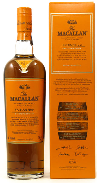 The Macallan Edition No. 2 Single Malt Scotch Whisky, Speyside - Highlands, Scotland (750ml)