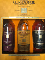 Glenmorangie 'The Pioneering Collection' Single Malt Scotch Whisky, Highlands, Scotland (750ml 3 bottle box set)