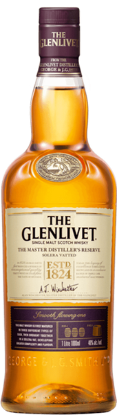 The Glenlivet Master Distiller's Reserve Solera Vatted Single Malt Scotch Whisky, Speyside, Scotland (1L)