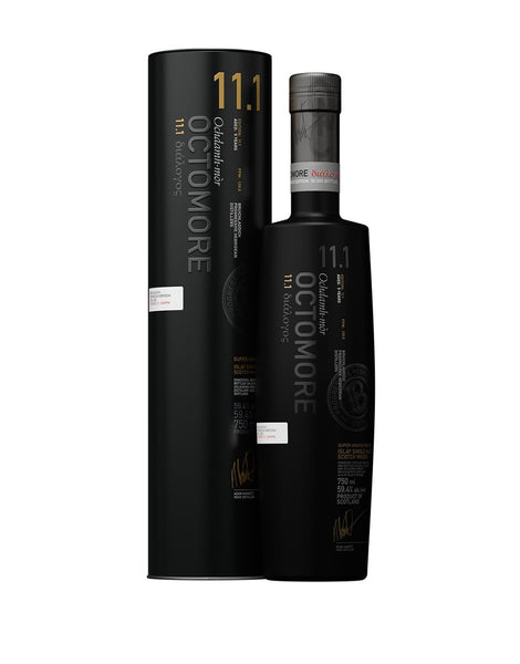 Bruichladdich Octomore Edition 11.1 Aged 5 Years Single Malt Scotch, Whisky Islay, Scotland (750ml)