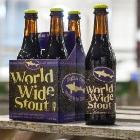 4pk-2019 Dogfish Head World Wide Stout Beer, Delaware, USA (12oz)