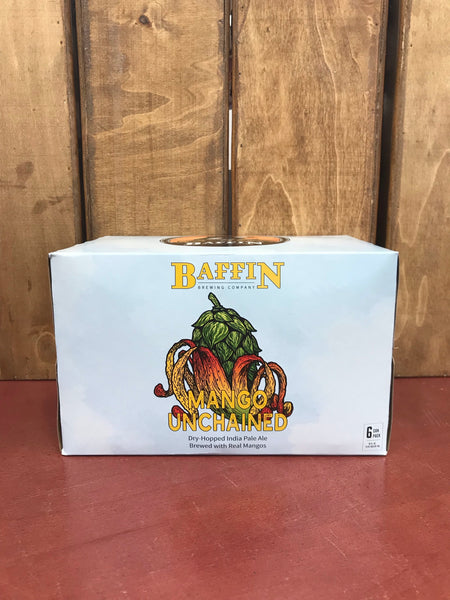 (6pk cans)-Baffin Brewing Mango Unchained Dry-Hopped India Pale Ale Beer, Michigan, USA (12oz)
