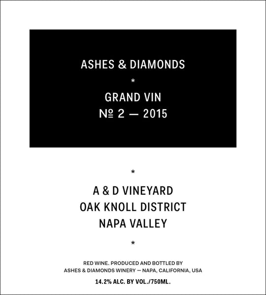 2015 Ashes & Diamonds Grand Vin No. 2, Oak Knoll District, USA (750ml)