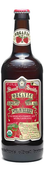 12pk-Samuel Smith's Organic Strawberry Fruit Ale Beer, England (550ml)