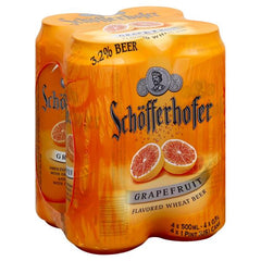 (4pk cans)-Schofferhofer Grapefruit Hefeweizen Beer, Germany (500ml)