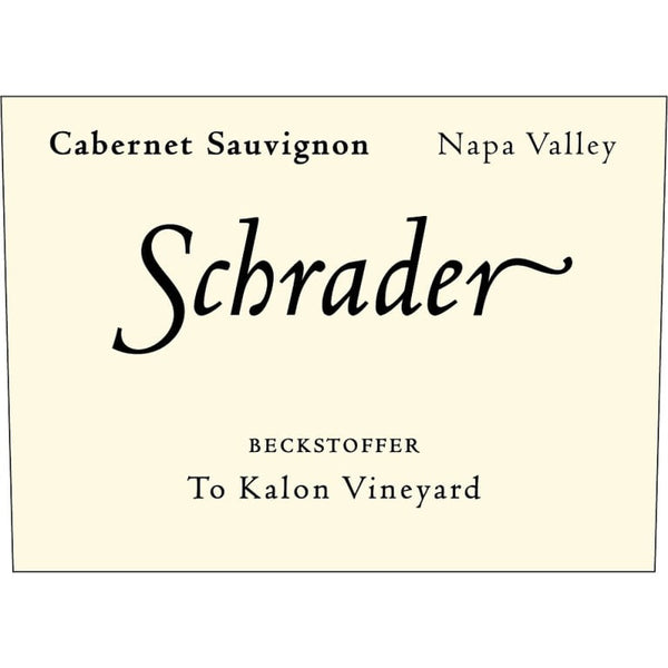 2013 Schrader Cellars Beckstoffer To Kalon Vineyard Cabernet Sauvignon, Napa Valley, USA (750ml)
