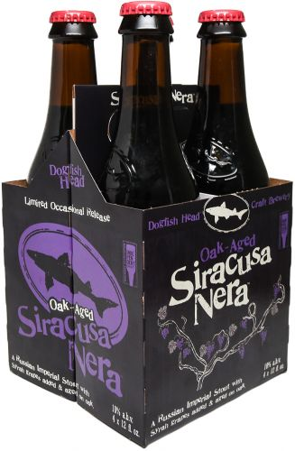 4pk-Dogfish Head Siracusa Nera Oak-Aged Russian Imperial Stout Beer, Delaware, USA (12oz)