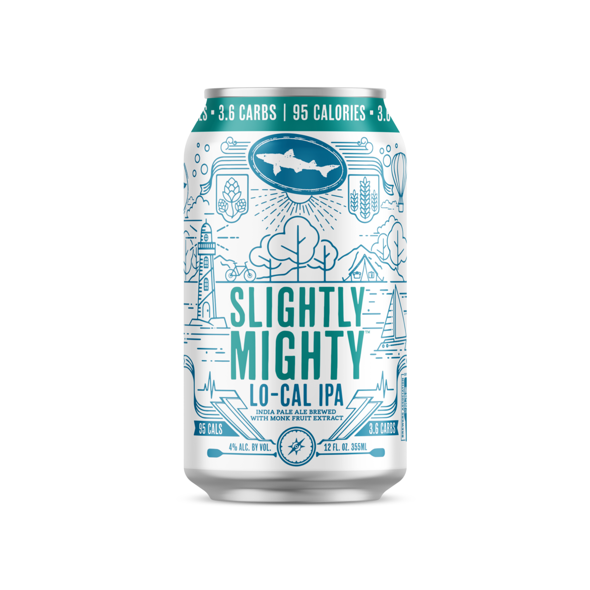 (6pk cans)-Dogfish Head Slightly Mighty Lo-Cal India Pale Ale Beer,  Delaware, USA (12oz)
