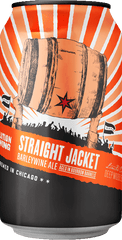 (4pk cans)-2019 Revolution Brewing Straight Jacket Bourbon Barrel Aged Barleywine Ale Beer, Illinois, USA (12oz)
