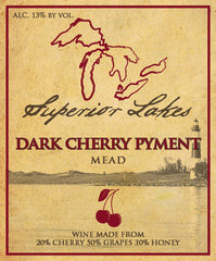Superior Lakes Dark Cherry Pyment Mead, Michigan, USA (750ml)