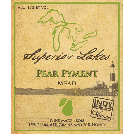Superior Lakes Pear Pyment Mead, Michigan, USA (750ml)