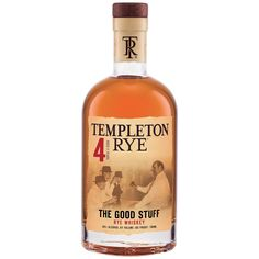 (1.75L) Templeton Rye 'The Good Stuff' 4 Year Old Rye Whiskey, Iowa, USA (1.75L)