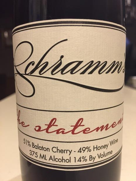 Schramm's The Statement Balaton Cherry Mead, Michigan, USA (750ml)