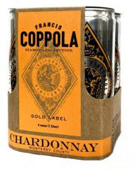 Francis Ford Coppola Diamond Collection Chardonnay Cans (case, 6 x 4pk 250ml cans)