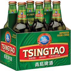 6pk-Tsingtao Lager Beer, China (330ml)