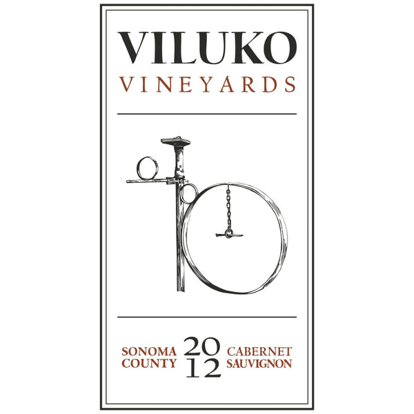 2012 Viluko Vineyards Cabernet Sauvignon, Sonoma County, USA (750ml)