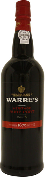 Warre's Heritage Ruby Port, Portugal (750ml)