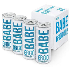 NV White Girl Babe Grigio with Bubbles, California, USA (6 x 4pk case, 250ml)