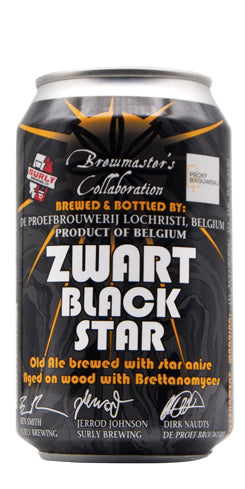 (24pk cans)-De Proef Zwart Black Star Old Ale Beer, Belgium (330ml)