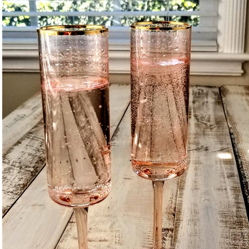 Use champagne in pretty glasses to celebrate your accomplishments in your direct sales business.