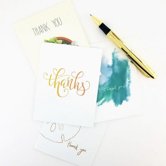 Thank you notes to people who helped you with your business.