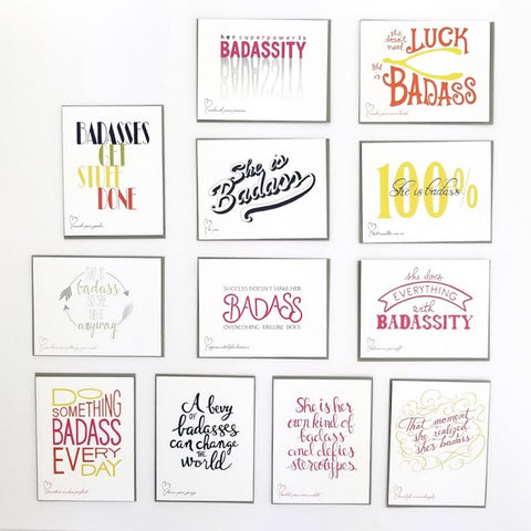 The Badass Collection. 12 greeting cards to celebrate someone's badassity.